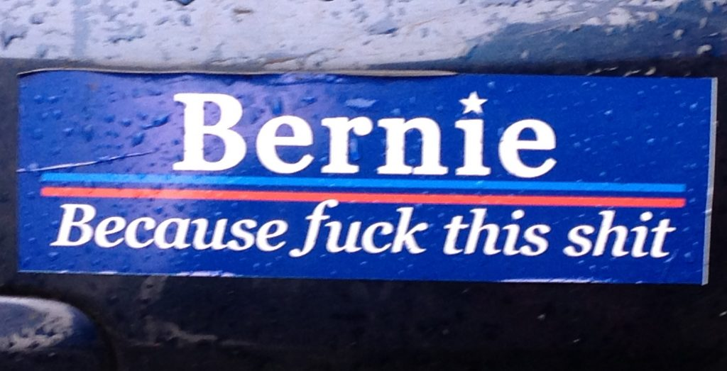 Anger on the Left: My Favorite Bumper Sticker of the Election